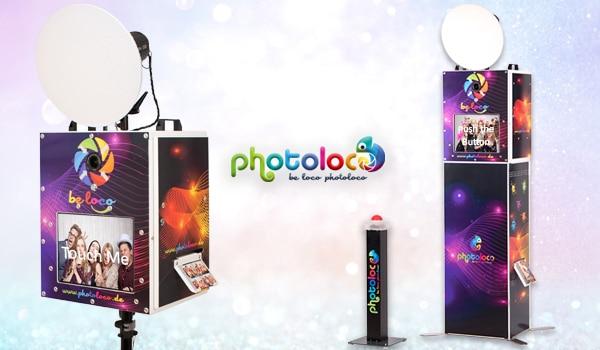 photoloco Fotobox - Profi Fotobox mieten