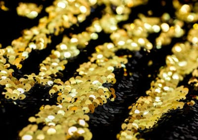 mermaid sequin black gold