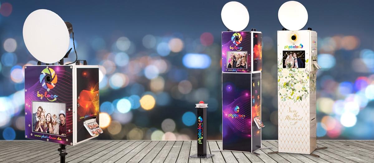 Fotobox mieten - photoloco - Tower mit Buzzer und Fotobox
